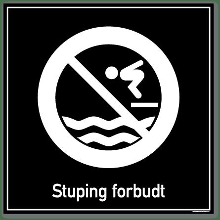 Stuping forbudt skilt