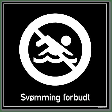 Svømming forbudt skilt