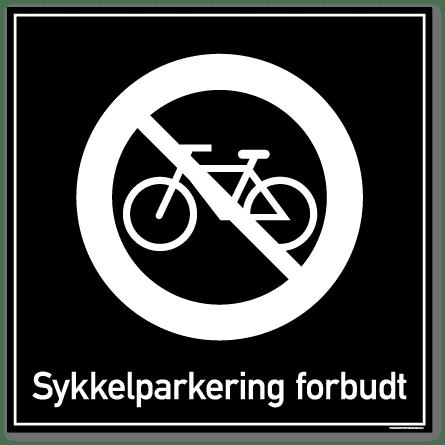 Sykkelparkering forbudt skilt