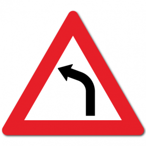 trafikkskilt farlig sving venstre