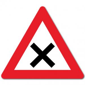 Trafikkskilt Farlig vegkryss 124