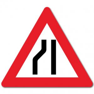 Trafikkskilt Smalere veg 106-3