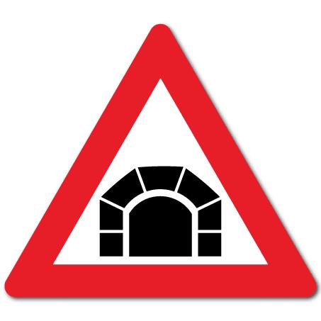 Trafikkskilt Tunnel 122