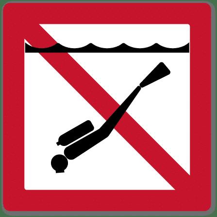 farvannsskilt dykking forbudt