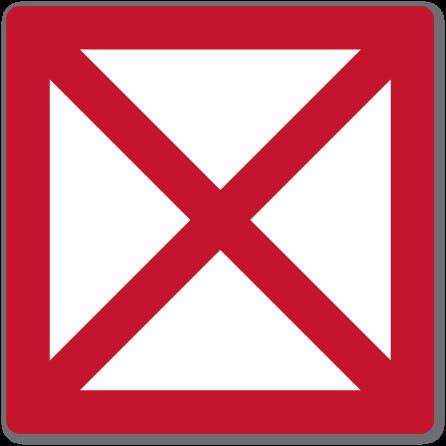 farvannsskilt Sjøtrafikk forbudt