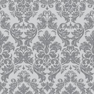 Kvadrat med frostfolie. Folien har er barokkinspirert mønster.