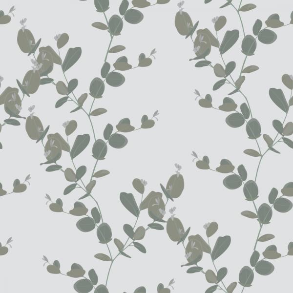 Utsnitt av vindusfolie med grønne blader.