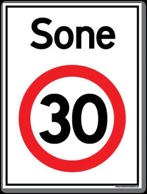 Sone 30 skilt