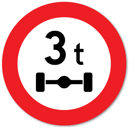 Trafikkskilt Aksellastgrense 320