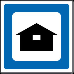 Trafikkskilt Campinghytter 622