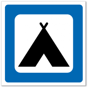 Trafikkskilt Campingplass 618