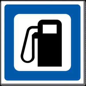Trafikkskilt Drivstoff 610