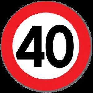 Trafikkskilt Fartsgrense 40 km/t