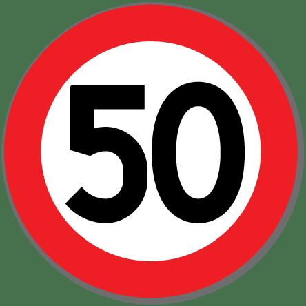 Trafikkskilt Fartsgrense 50 km/t