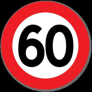 Trafikkskilt Fartsgrense 60 km/t