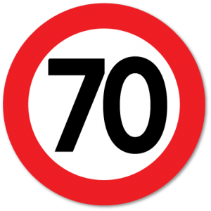trafikkskilt fartsgrense 70 km/t
