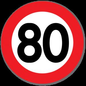 Trafikkskilt Fartsgrense 80 km/t
