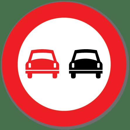 Trafikkskilt Forbikjøringsforbud 334