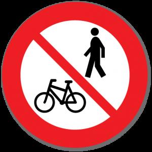 Trafikkskilt Forbudt for gående og syklende 306.8