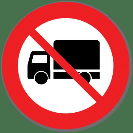Trafikkskilt Forbudt for lastebil 306.5