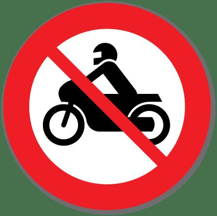 Trafikkskilt Forbudt for motorsykkel 306.4