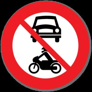 Trafikkskilt Forbudt for motorvogn 306.1
