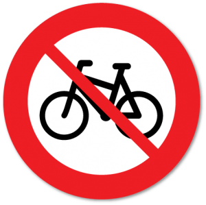 Trafikkskilt forbudt for syklende