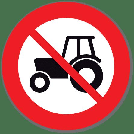 Trafikkskilt Forbudt for traktor 306.3