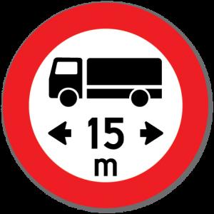 Trafikkskilt Lengdegrense 316