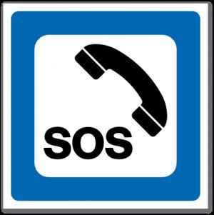 Trafikkskilt Nødtelefon 605