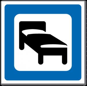 Trafikkskilt Overnattingssted 626