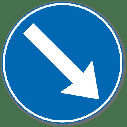 Trafikkskilt Påbudt Kjørefelt Høyre 404.1
