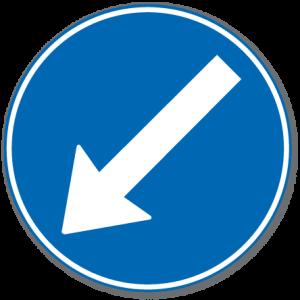 Trafikkskilt Påbudt Kjørefelt Venstre 404.2