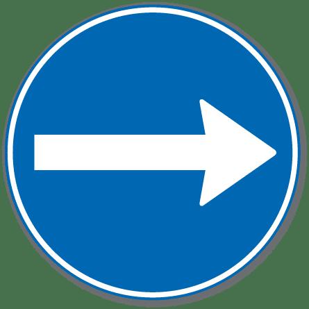 trafikkskilt påbudt kjøreretning 402.1