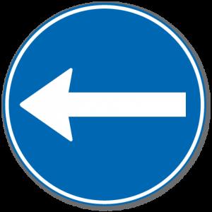 Trafikkskilt Påbudt Kjøreretning 402.2