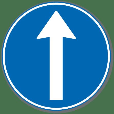 Trafikkskilt Påbudt Kjøreretning 402.3