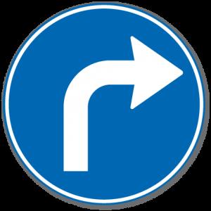 Trafikkskilt Påbudt Kjøreretning 402.4