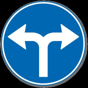 Trafikkskilt Påbudt Kjøreretning 402.8