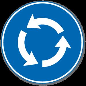 Trafikkskilt Påbudt Rundkjøring 406