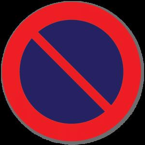 Trafikkskilt Parkering forbudt 372