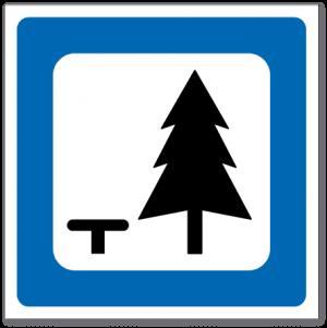 Trafikkskilt Rasteplass 613.1