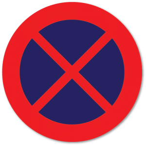 Trafikkskilt Stans forbudt 370