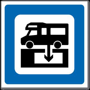 Trafikkskilt Toalettømmeanlegg 611