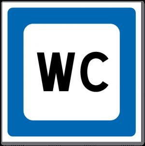 Trafikkskilt Toalett 612