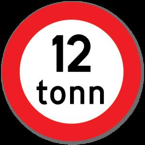 Trafikkskilt Totalvektgrense 318.1