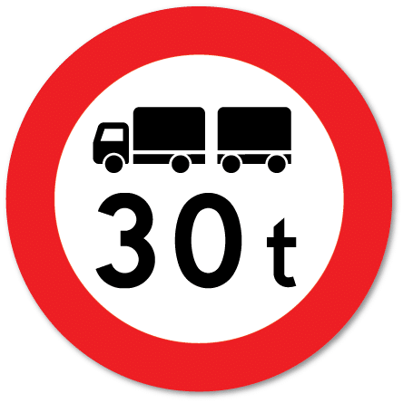 Trafikkskilt Totalvektgrense 318.2