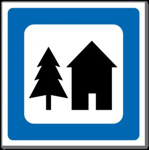 Trafikkskilt Vandrerhjem 624