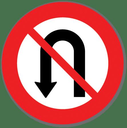 Trafikkskilt Vendingsforbud 332