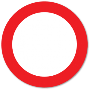 Trafikkskilt Forbudt for alle kjøretøy 306