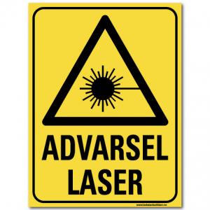 HMS advarsel laser